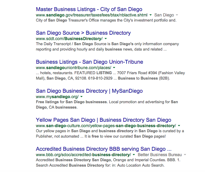 San Diego | Free Business Listing | Search Result