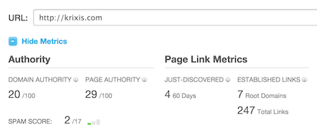 Amount Of SEO Backlinks | Audit Info