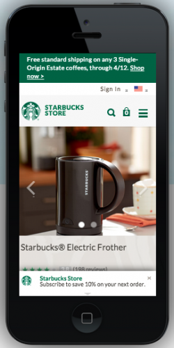 mobile-friendly shopping | starbuck mobile