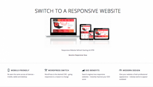 responsive website | desktop view