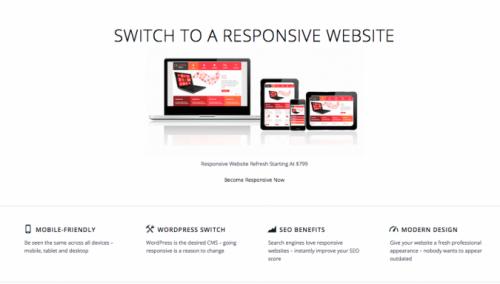 responsive website | desktop view