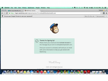 creating a mail chimp account